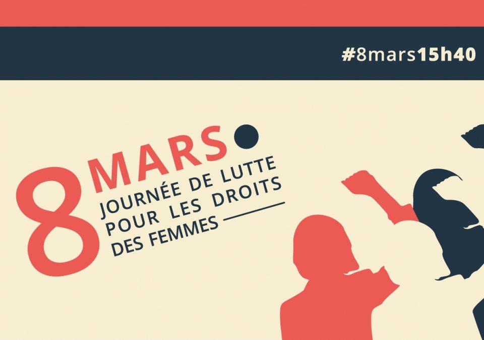 8 mars : Les droits des femmes valent plus que des mots. Il faut des moyens !
