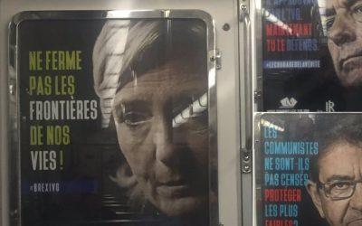 Affichage sauvage anti-IVG: les loups sont entrés dans le métro!