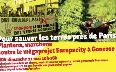 Le 21 mai, mobilisons-nous contre le projet Europacity