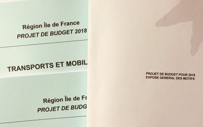 Projet de budget 2018 – Conseil régional des 18, 19 & 20 décembre 2017