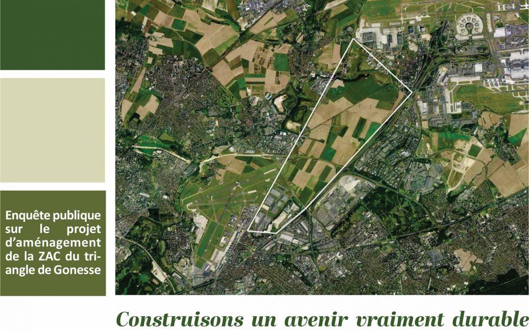 Europacity : contribution au DUP projet Grand Paris Aménagement – ZAC du Triangle de Gonesse