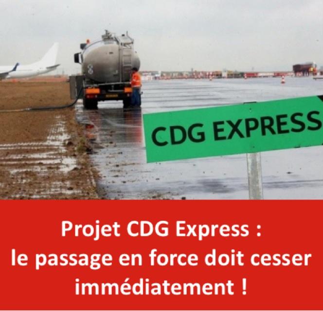 Projet CDG Express : le passage en force doit cesser immédiatement!
