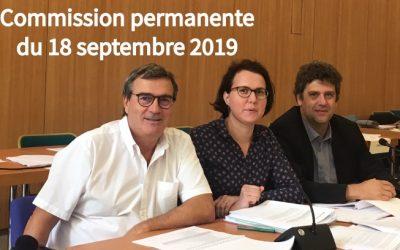 Commission permanente du 18 septembre 2019