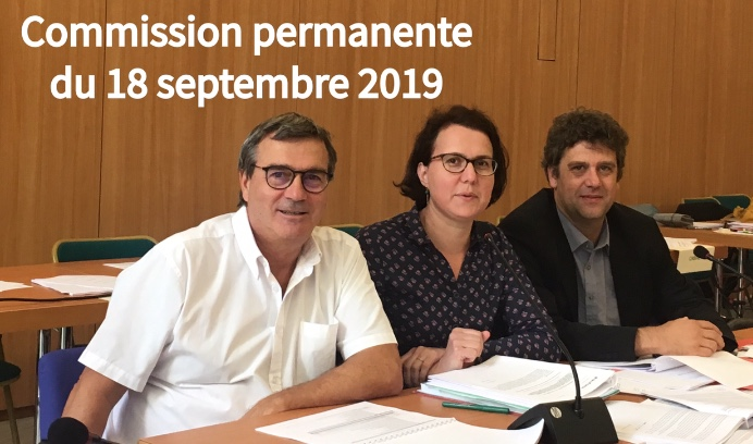 Commission permanente du 18 septembre 2019