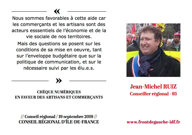 Panneau Jean-Michel Chèques numériques