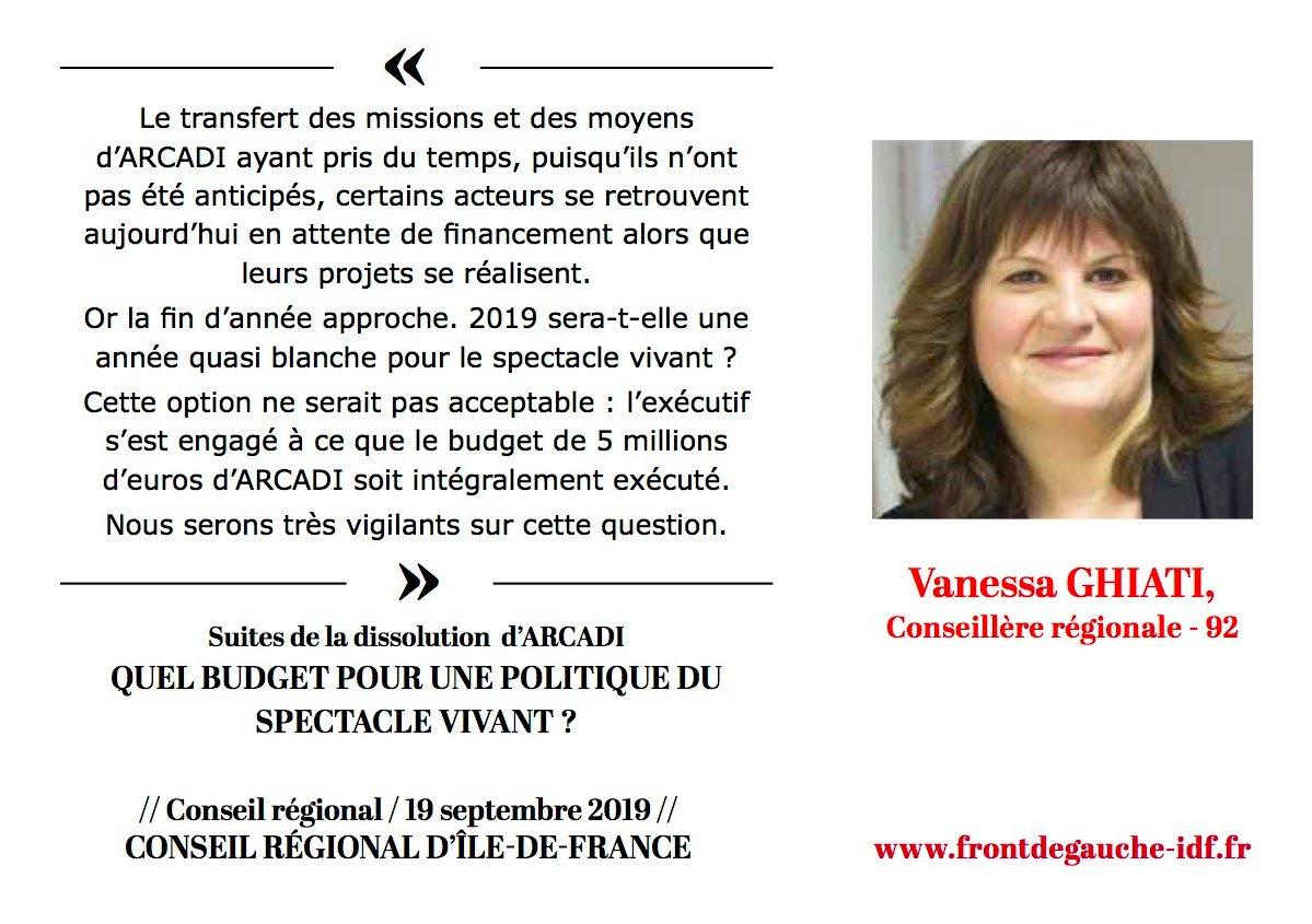 Panneau Vanessa Spectacle vivant