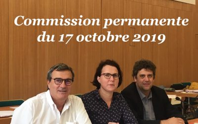 Commission permanente du 17 octobre 2019
