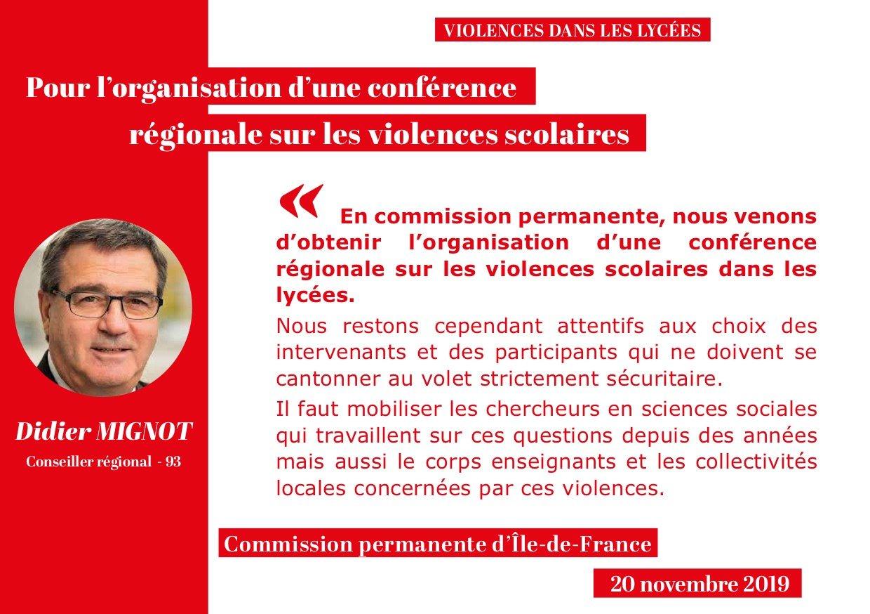 Panneau CP 20-11 Violences lyces