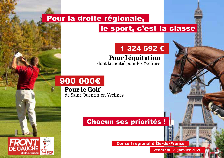 Sport équitation golf