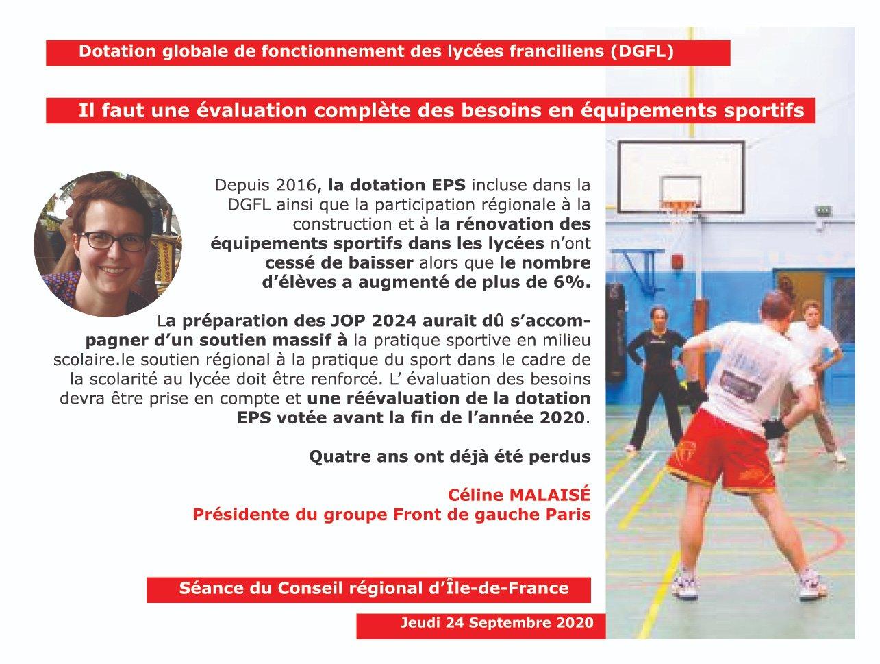 Panneau DGFL sport Céline