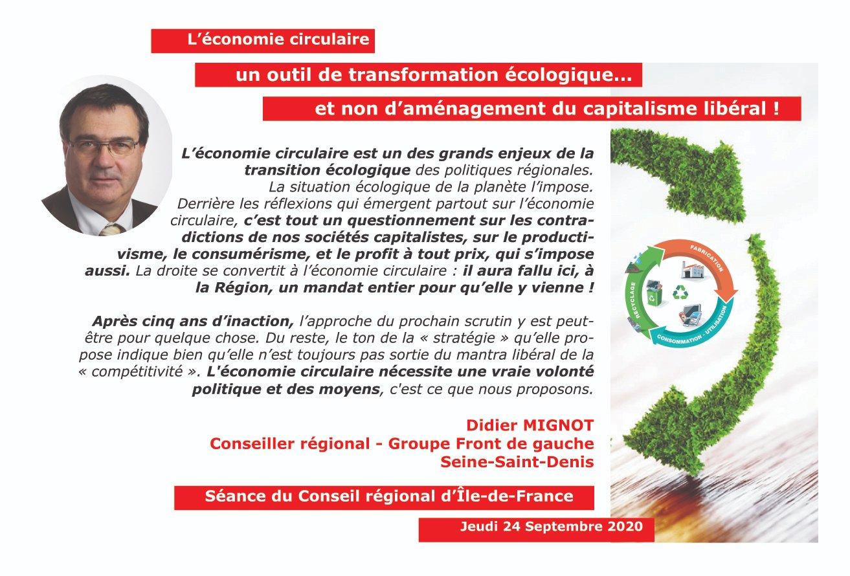 Panneau economie circulaire Didier