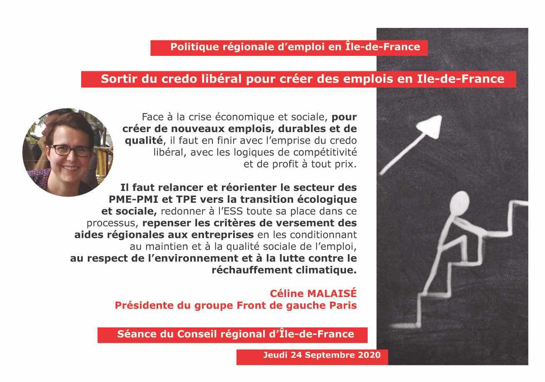 Panneau emploi durable Céline