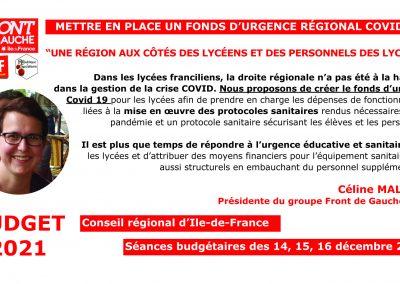 Céline Fonds urgence covid lycées