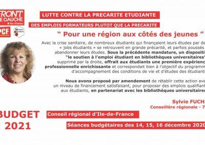 Sylvie Précarité étudiante