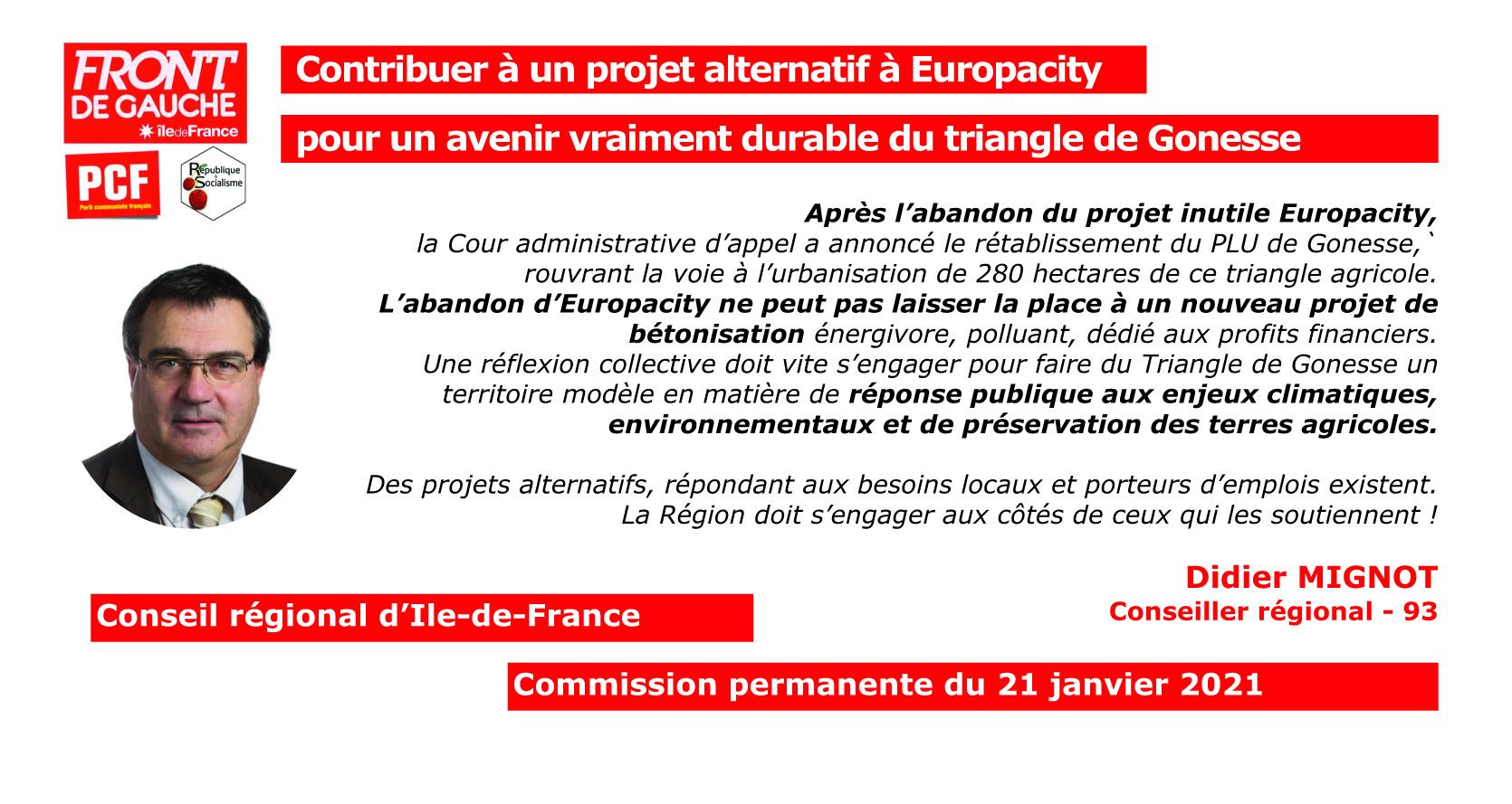 DIDIER Contribuer à un projet alternatif à Europacity