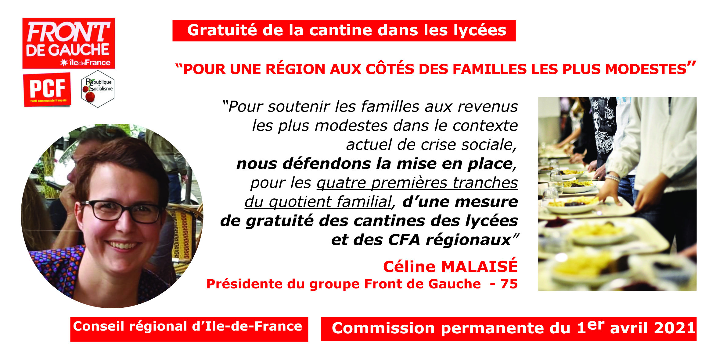 Céline Gratuité cantines lycées