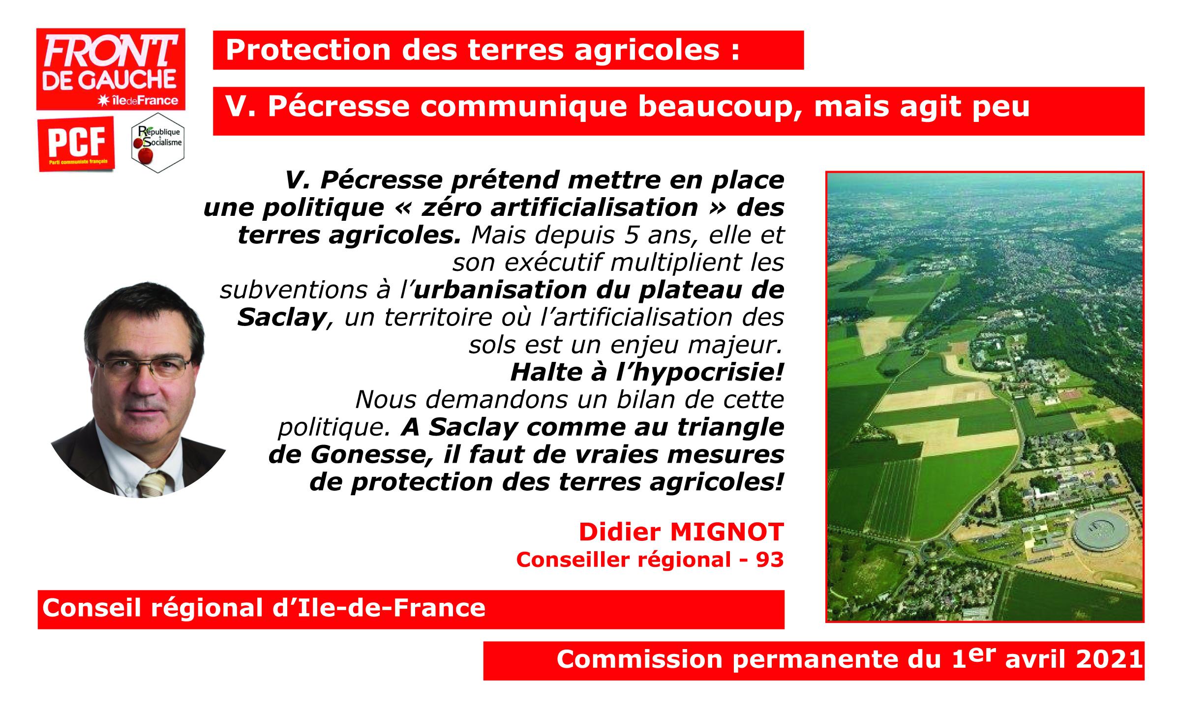 Protection des terres agricoles